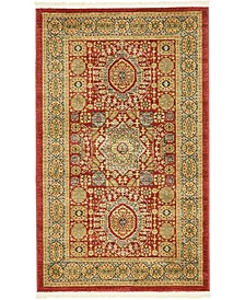 "Wilder Wld2 Red 3' 3"" x 5' 3"" Area Rug"
