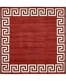 Anzu Anz2 Burgundy 8' x 8' Square Area Rug