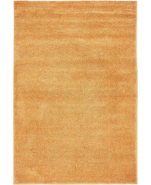 "Bridgeport Home Uno Uno1 Orange 5' x 7' 7"" Area Rug"
