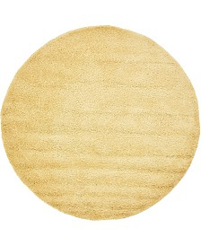 Bridgeport Home Uno Uno1 Yellow 6' x 6' Round Area Rug