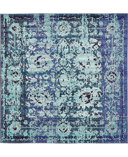Bridgeport Home Sana San4 Turquoise 8' x 8' Square Area Rug