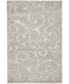 Bridgeport Home Malloway Shag Mal1 Light Gray 4' x 6' Area Rug