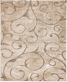 Malloway Shag Mal1 Light Brown 8' x 10' Area Rug