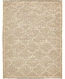 Bridgeport Home Filigree Shag Fil2 Beige 9' x 12' Area Rug
