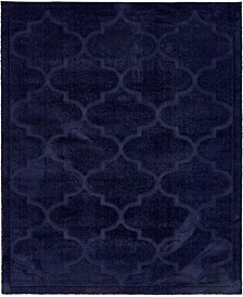 Filigree Shag Fil2 Navy Blue 8' x 10' Area Rug