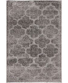 Bridgeport Home Filigree Shag Fil2 Dark Gray 4' x 6' Area Rug