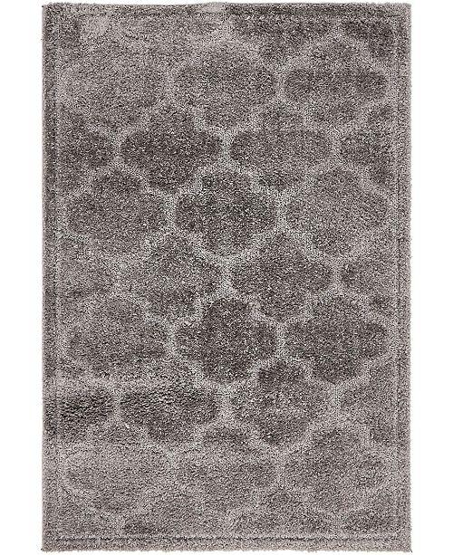 Bridgeport Home Filigree Shag Fil2 Dark Gray 4' x 6' Area Rug