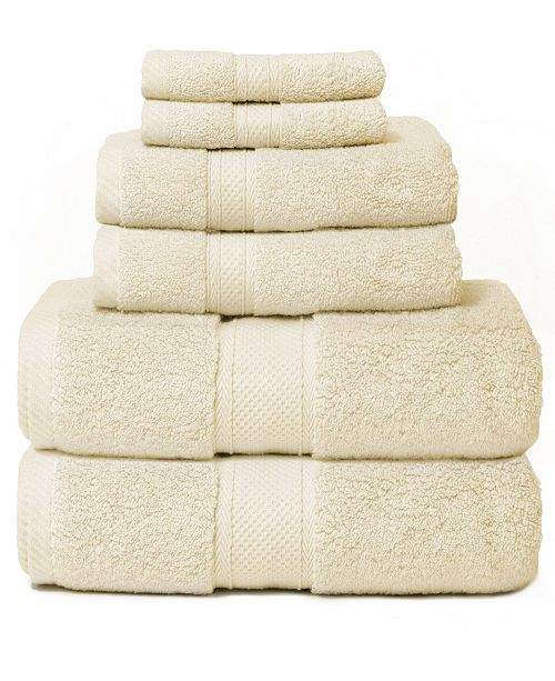 Cobra Hotel Zero Twist 6-Piece 100% Cotton Bath Towel Set