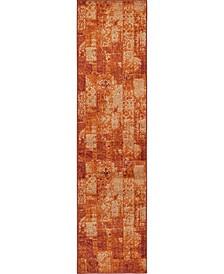 "Jasia Jas07 Terracotta 2' 6"" x 10' Runner Area Rug"