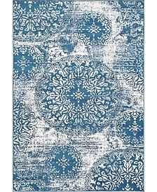 Bridgeport Home Basha Bas7 Blue 4' x 6' Area Rug