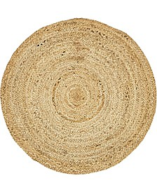"Braided Jute C Bjc5 Natural 3' 3"" x 3' 3"" Round Area Rug"