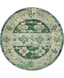 Newhedge Nhg3 Green 8' x 8' Round Area Rug