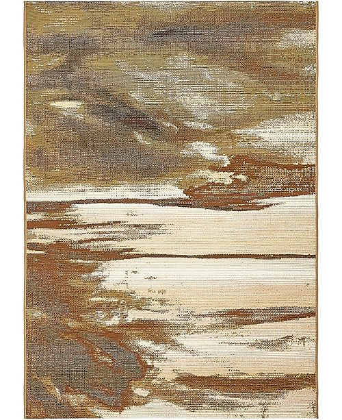 Bridgeport Home Pashio Pas2 Beige 4' x 6' Area Rug