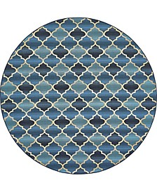 Pashio Pas1 Blue 8' x 8' Round Area Rug