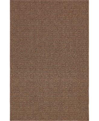 Pashio Pas6 Brown 6' x 9' Area Rug