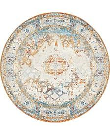 Mishti Mis4 Beige 8' x 8' Round Area Rug