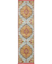 "Kenna Ken1 Gold 2' 7"" x 10' Runner Area Rug"