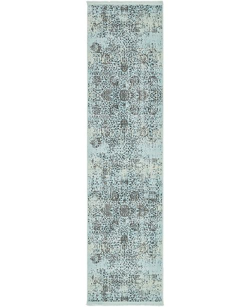 "Bridgeport Home Kenna Ken2 Turquoise 2' 7"" x 10' Runner Area Rug"