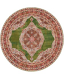 "Kenna Ken1 Green 5' 5"" x 5' 5"" Round Area Rug"