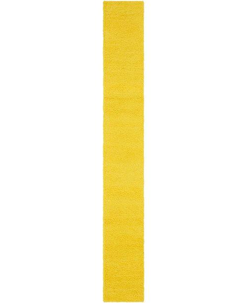 "Bridgeport Home Exact Shag Exs1 Tuscan Sun Yellow 2' 6"" x 19' 8"" Runner Area Rug"