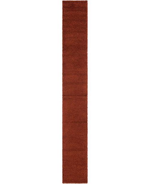 "Bridgeport Home Exact Shag Exs1 Terracotta 2' 6"" x 19' 8"" Runner Area Rug"