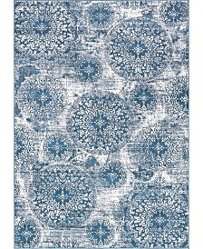 Bridgeport Home Basha Bas7 Blue 7' x 10' Area Rug