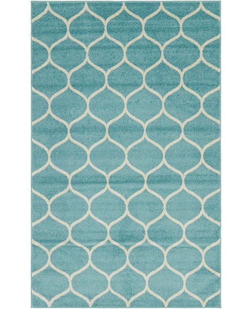 Bridgeport Home Plexity Plx2 Light Blue 5' x 8' Area Rug