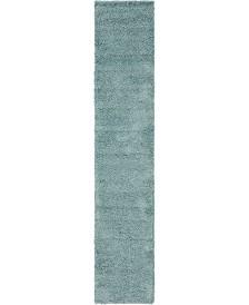 "Bridgeport Home Exact Shag Exs1 Light Slate Blue 2' 6"" x 13' Runner Area Rug"