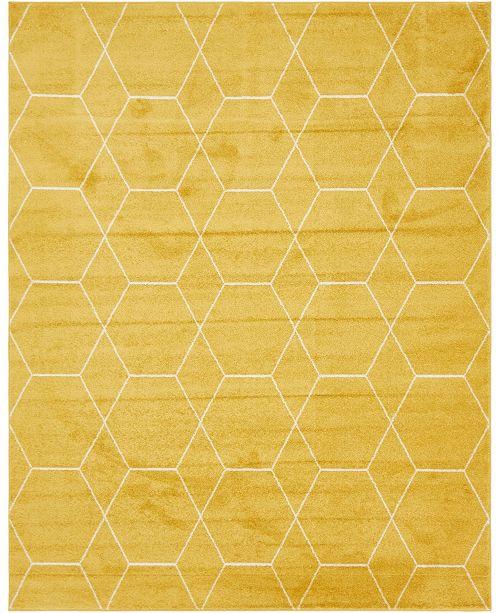 Bridgeport Home Plexity Plx1 Yellow 8' x 10' Area Rug