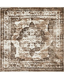 Basha Bas2 Light Brown 6' x 6' Square Area Rug