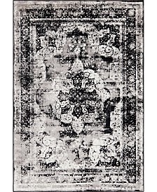 Bridgeport Home Basha Bas2 Black 6' x 9' Area Rug