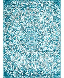 Basha Bas4 Turquoise 8' x 11' Area Rug