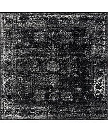 Bridgeport Home Basha Bas1 Black 6' x 6' Square Area Rug