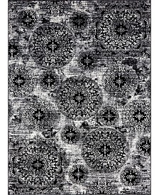 Bridgeport Home Basha Bas7 Black 8' x 11' Area Rug