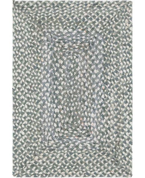 Bridgeport Home Roari Cotton Braids Rcb1 Gray 2' x 3' Area Rug