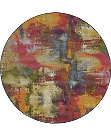 Pashio Pas2 Multi 8' x 8' Round Area Rug
