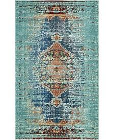 Brio Bri6 Turquoise 5' x 8' Area Rug