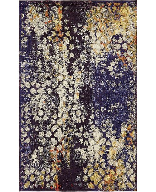 Bridgeport Home Brio Bri1 Navy Blue 5' x 8' Area Rug