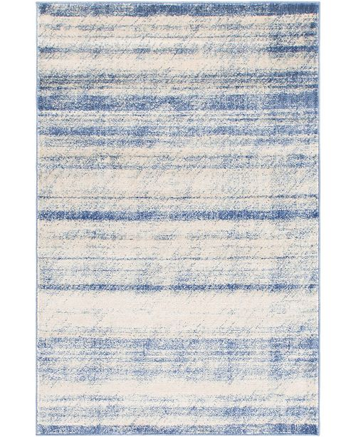 Bridgeport Home Haven Hav3 Blue 4' x 6' Area Rug