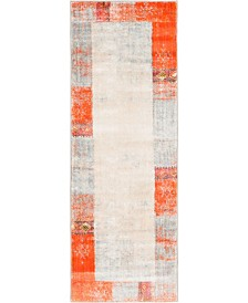 "Bridgeport Home Haven Hav4 Orange 2' 2"" x 6' Runner Area Rug"