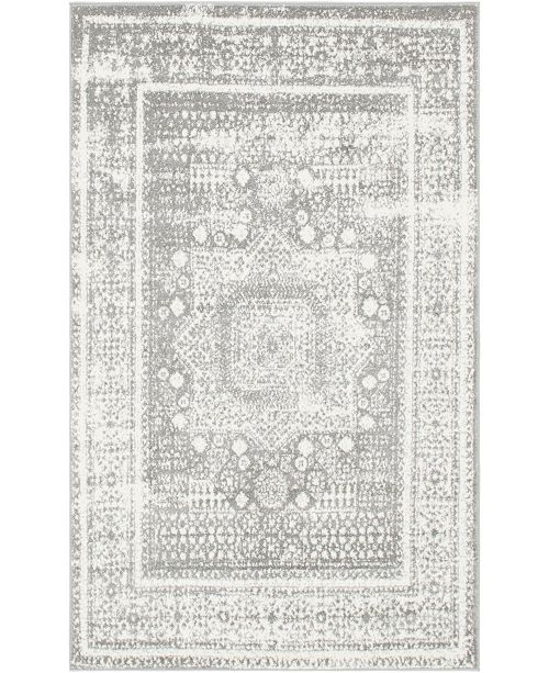 Bridgeport Home Mishti Mis1 Gray 4' x 6' Area Rug
