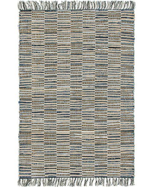Bridgeport Home Jari Checkered Jar3 Blue 4' x 6' Area Rug