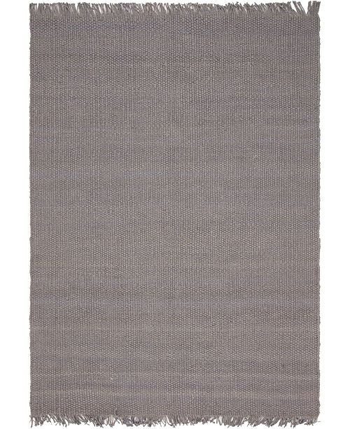 Bridgeport Home Stout Jute Stj1 Gray 9' x 12' Area Rug