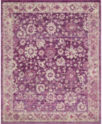 Lorem Lor3 Purple 8' x 8' Square Area Rug