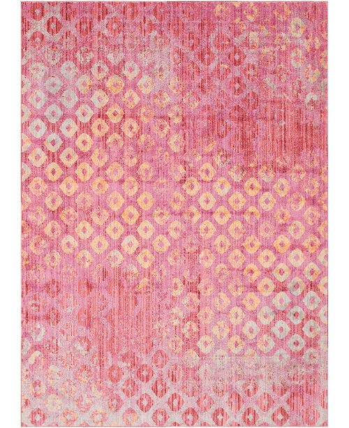 Bridgeport Home Prizem Shag Prz2 Pink 8' x 11' Area Rug