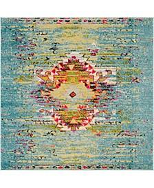 Brio Bri9 Turquoise 6' x 6' Square Area Rug