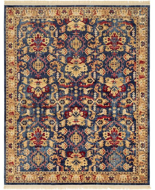 Bridgeport Home Borough Bor1 Blue 8' x 10' Area Rug