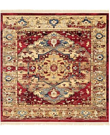 Bridgeport Home Borough Bor3 Red 8' x 8' Square Area Rug