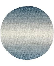 Lochcort Shag Loc5 Blue 5' x 5' Round Area Rug