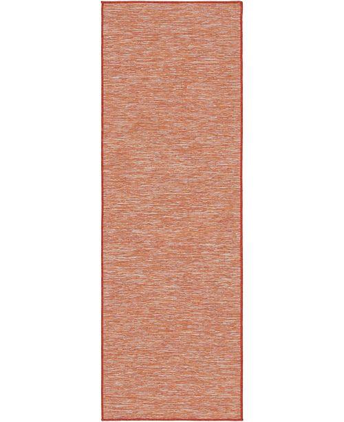 Bridgeport Home Pashio Pas8 Terracotta 2' x 6' Runner Area Rug